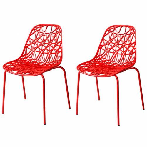 זוג כסאות לשימוש מגוון דגם דגן אדום
