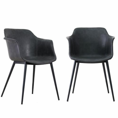 זוג כורסאות מעצבים עם ידיות כנפיים רגלי ברזל דגם אופיר
