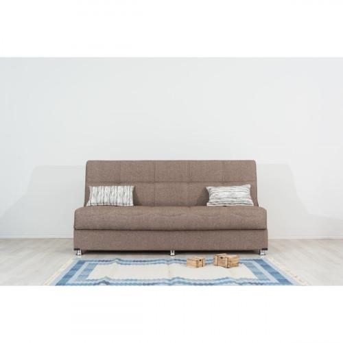 ספה 3 מושבים נפתחת למיטה + ארגז מצעים LIBA חום