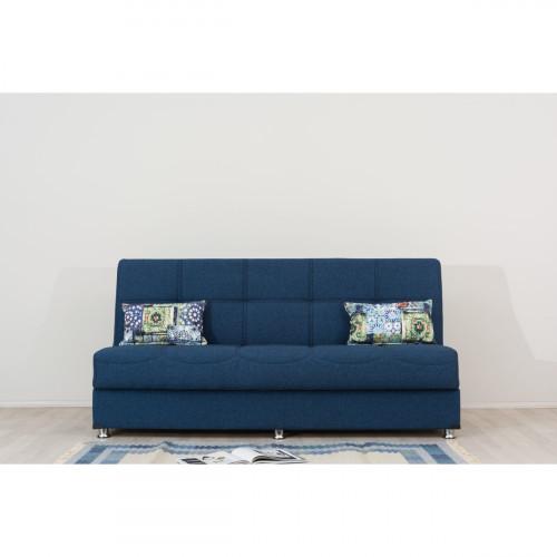 ספה 3 מושבים נפתחת למיטה + ארגז מצעים LIBA כחול