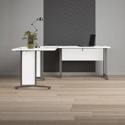שולחן מנהלים פינתי מרווח עם רגלי ברזל תוצרת דנמרק דגם בונד