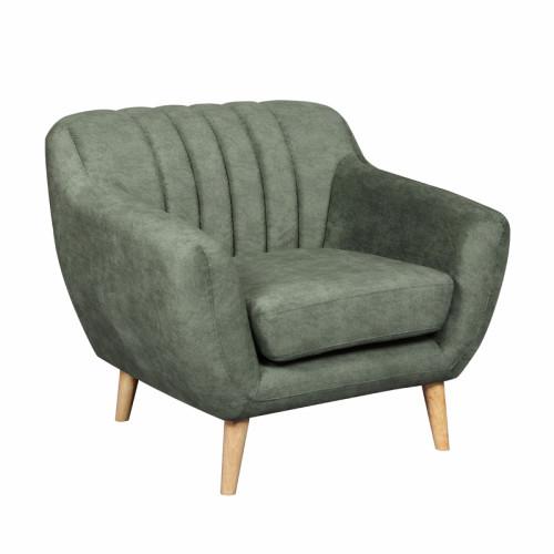 כורסא מעוצבת בעיצוב רטרו עם ריפוד בד רחיץ דגם פורטו ירוק