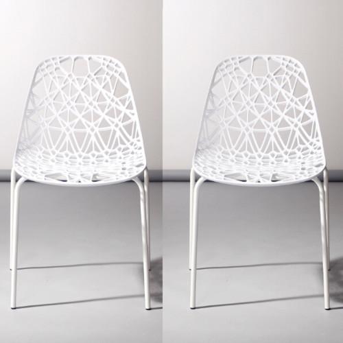 זוג כסאות לשימוש מגוון דגם דגן לבן