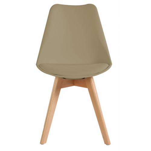 רביעיית כיסאות דגם TULIP בז' X4