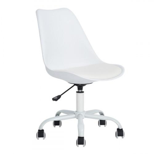 בילי - כיסא לבית או למשרד - לבן