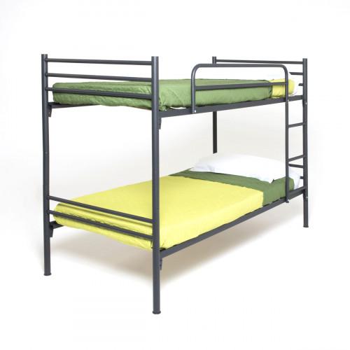 מיטת קומותיים מתכת המתאימה למזרנים בגודל 90/190 VOLARE אפור כהה