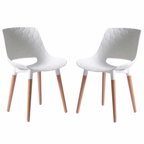 סט 4 כסאות אוכל דגם גולן לבן
