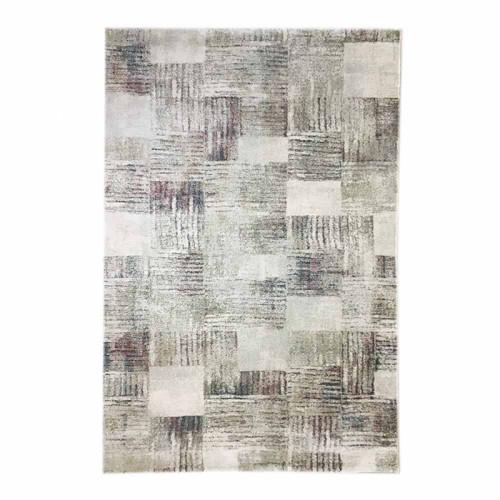 שטיח מלאנז' מעצבים בז' ריבועים צבעוני 160X230