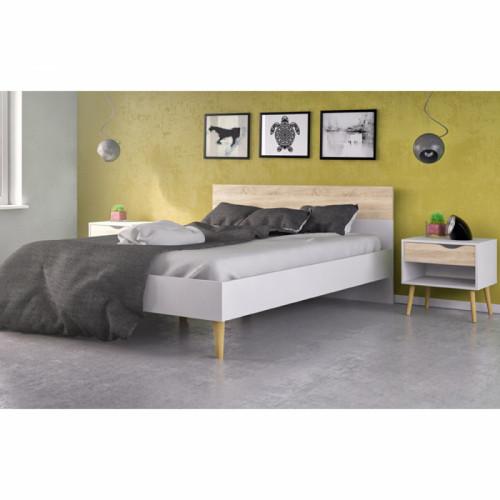 מיטה זוגית מעוצבת עם 2 שידות לילה תואמות דגם דלתא 160X200