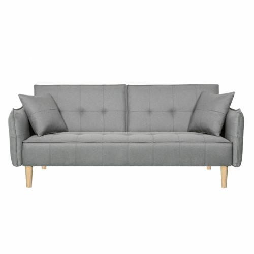 ספה תלת מושבית נפתחת למיטה רחבה מרופדת בד דגם שלי