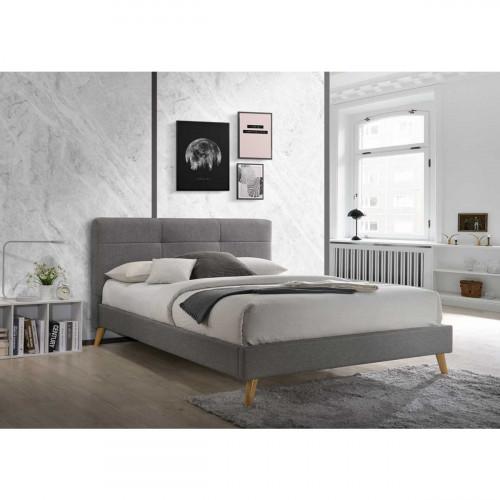 מיטת זוגית מעוצבת בריפוד בד המתאימה למזרון 140/190 דגם טנסי