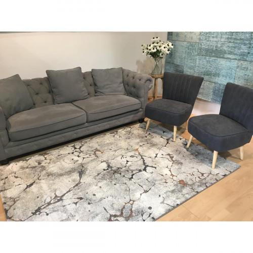 שטיח פלאש בטון נגיעות כתום 120X170