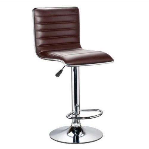 כיסא בר מונפלייה בעיצוב אלגנטי ועדין בריפוד דמוי עור חום