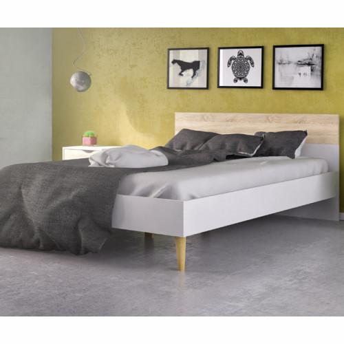 מיטה זוגית מעוצבת ללא שידות דגם דלתא 160X200