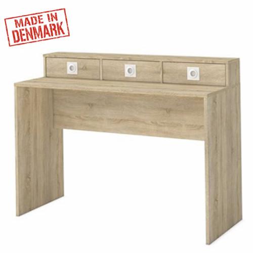 שולחן איפור / כתיבה משולב 3 מגירות תוצרת דנמרק דגם לוקאס