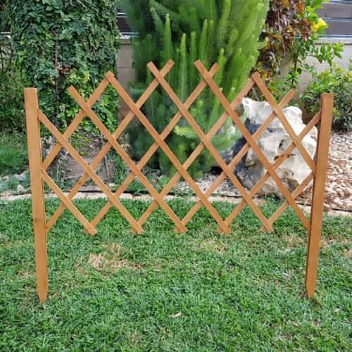 גדר עץ נפתחת לתיחום וטיפוס צמחים 011