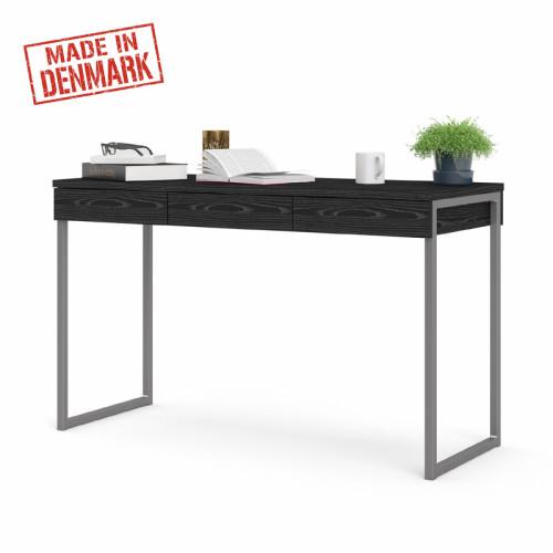שולחן כתיבה עם מגירות ורגלי ברזל תוצרת דנמרק דגם ענת-שחור