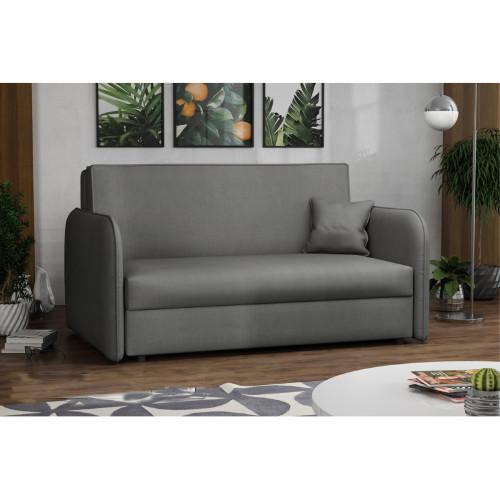 ספה אירופאית מעוצבת נפתחת למיטה עם ארגז מצעים דגם מאיה אפור