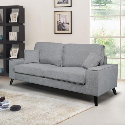 ספה תלת מושבית מרופדת בד דגם יסמין