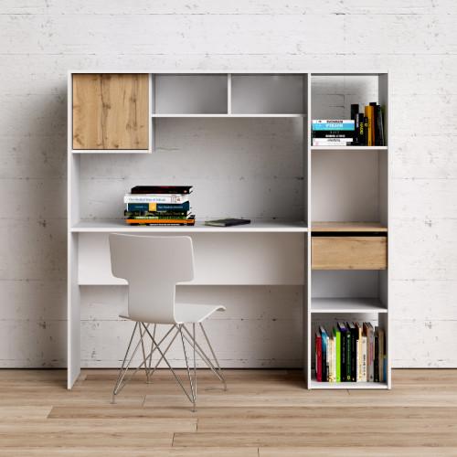 ספרייה עם שולחן כתיבה תוצרת דנמרק דגם לירון