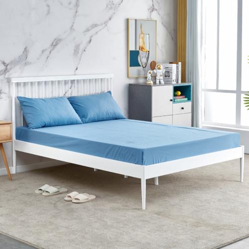 מיטת זוגית מברזל בגוון לבן למזרן 140x190  דגם סנדי 140