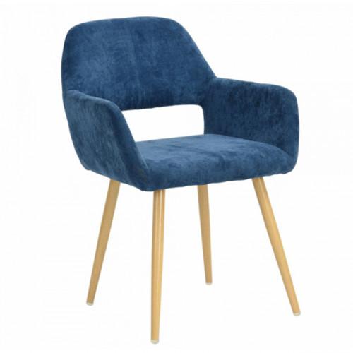 כיסא מרופד בעיצוב מודרני לבית או למשרד  דגם פאוול  כחול ים