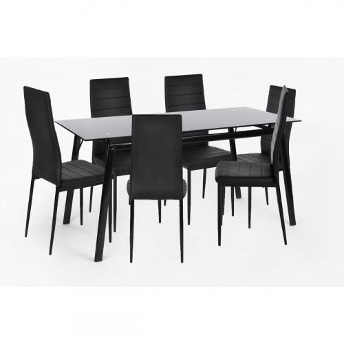 דארטיניאן  - פינת אוכל אקסטרא לארג' כוללת שולחן ו-6 כסאות