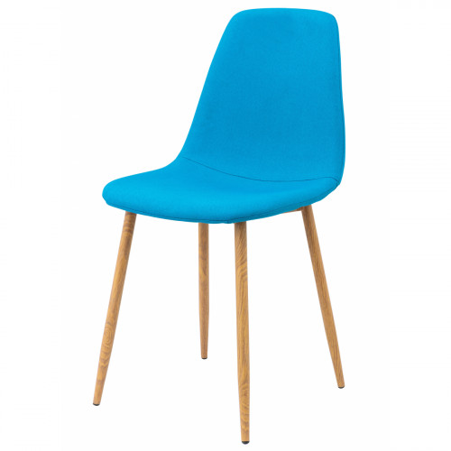 כסא לפינת אוכל דגם SOLNA בד אריג כחול