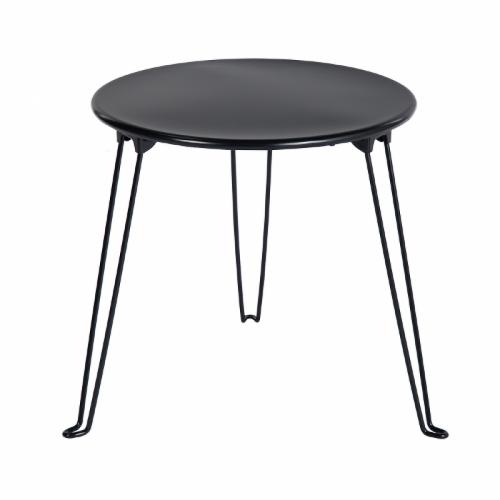 שולחן צד מעוגל דגם דיומא - שחור