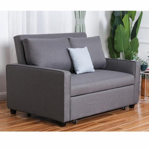 ספה נפתחת למיטה רחבה עם ראש מתכוונן דגם סמייל 120 אפור + כרית נוי מתנה!