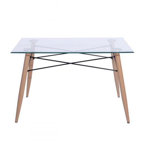 שולחן זכוכית שקופה סלין