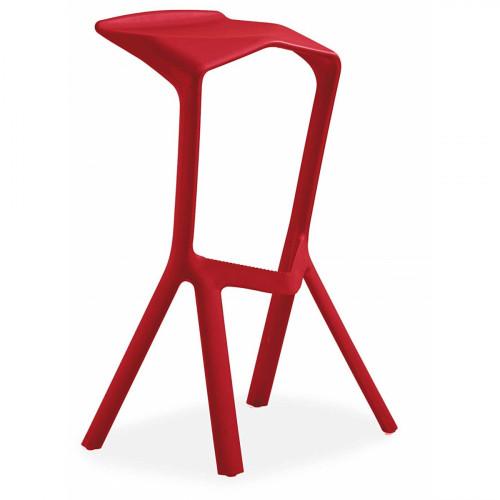כסא בר נערם דגם Modena אדום