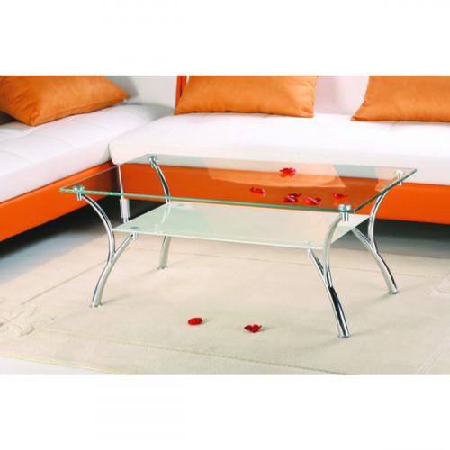 שולחן סלון זכוכית מעוצב דגם CAMPANA