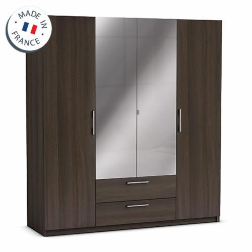 ארון ענק 4 דלתות כולל מראות ומגירות תוצרת צרפת דגם יופיטר ונגה