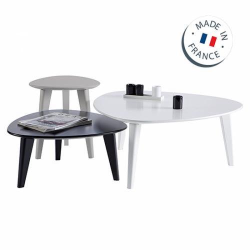 סט שולחנות לסלון בעיצוב מודרני תוצרת צרפת דגם סטון