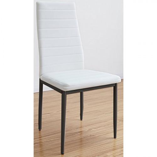 רביעיית כסאות דגם EVORA דמוי עור לבן X4