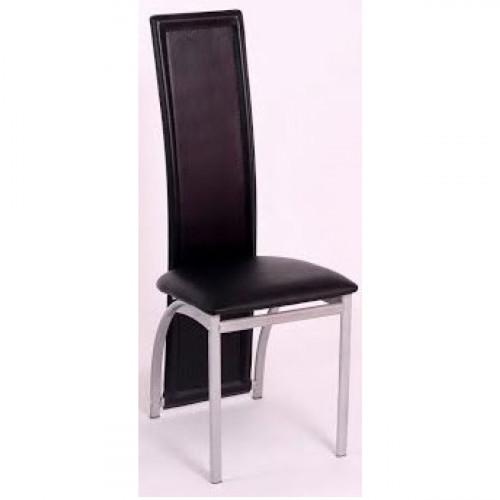 כיסא לפינת אוכל בעיצוב מודרני דגם ורונה בגימור שחור