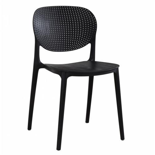 רביעיית כיסאות דגם VANCOUVER שחור X4