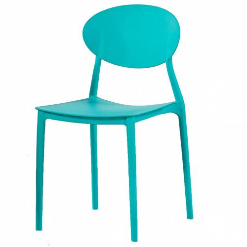 כסא לפינת אוכל דגם Glasgow במגוון צבעים, פנים/חוץ, נערם כחול