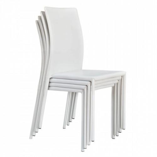כסא לפינת אוכל CITY לבן