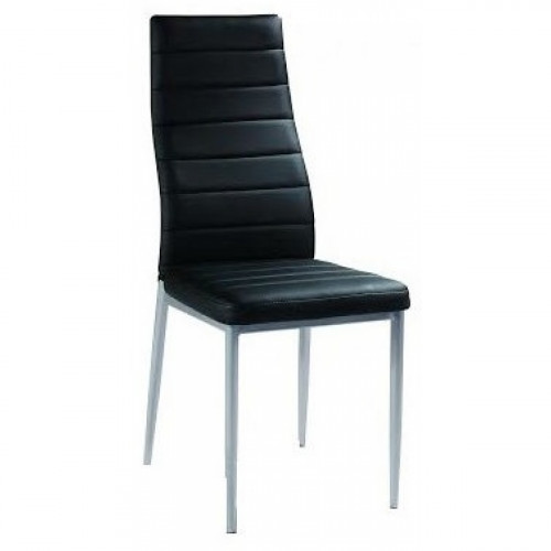 כיסא מרופד לפינת אוכל דגם 1002 שחור