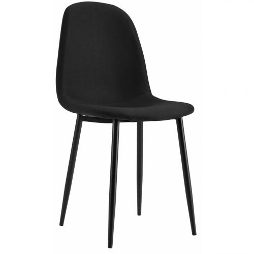 רביעיית כסאות דגם SOLNA בד אריג שחור X4