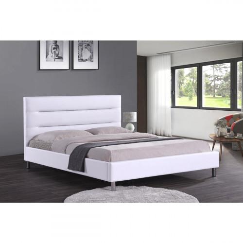 מיטה זוגית מעוצבת בריפוד דמוי עור המתאימה למזרון 160/200 דגם פאן