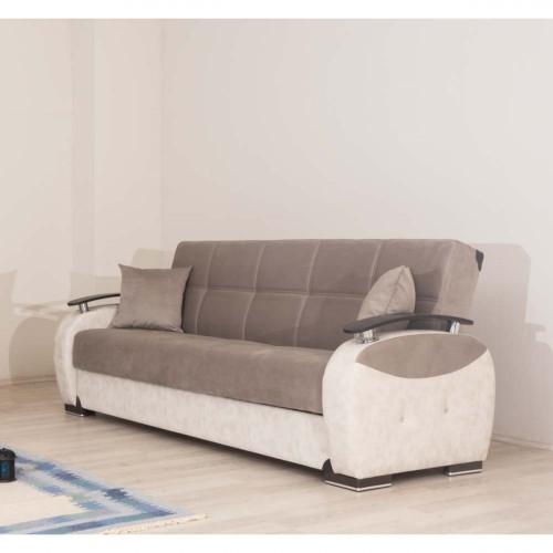 ספת 3 מושבים נפתחת למיטה עם ארגז מצעים GAMMA בז'