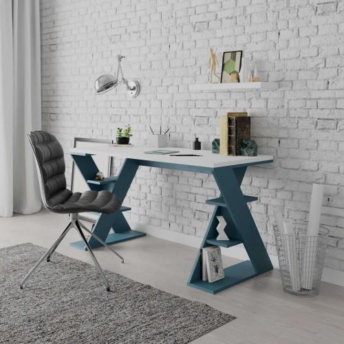 שולחן כתיבה Papillon טורקיז/לבן מסדרת Decoline