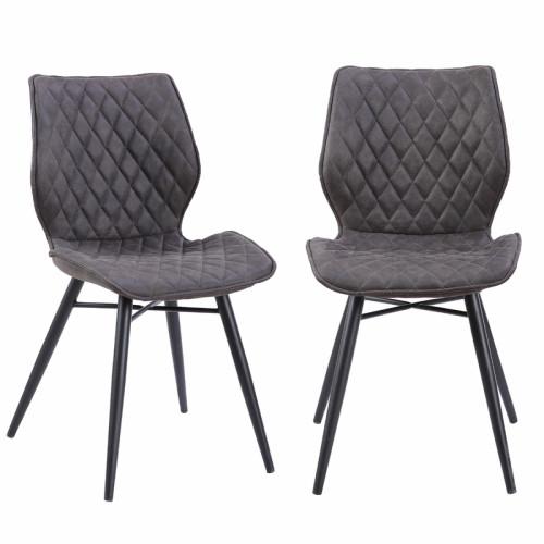 זוג כסאות לפינת אוכל עם רגלי מתכת דגם רונן