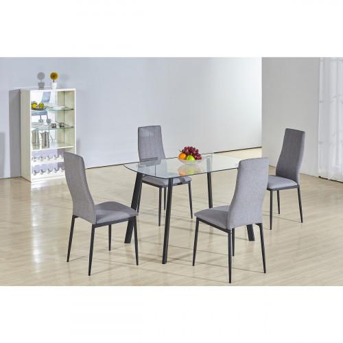 פינת אוכל מזכוכית דגם ROSA כולל 4 כיסאות