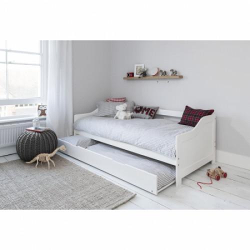 מיטת ילדים הכוללת מיטת יחיד, מיטת חבר נפתחת ושני מזרנים אורטופדיים בגודל 80/190, TUTTI