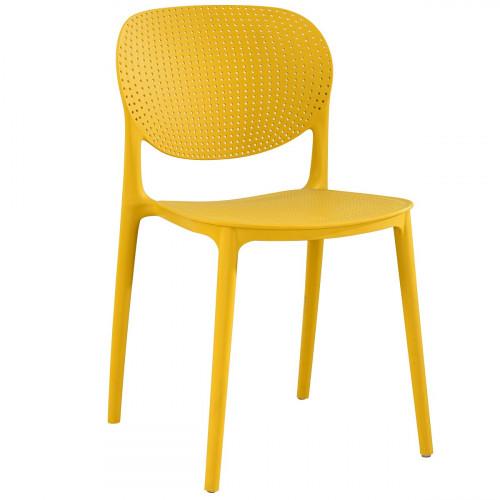 כיסא לפינת אוכל דגם VANCOUVER צהוב