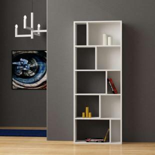 כוננית Onda Bookcase לבן מסדרת Decoline